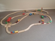 Hand Crafted Wooden Train Set For Christmas